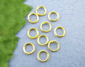 Bulk 200 6mm Jump Ring Gold Plated Open Jump Rings Great for Jewelry Making Supplies & Craft Projects Charms Bracelet Charm