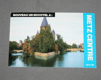 Vintage Metz Centre Postcard Unused Photochrome Postcards 1960's Post Card Souvenir Nouveau Un Novotel A Centre Saint Jacques France