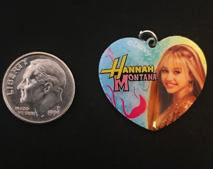 Disney Hannah Montana Heart Pendant Charm Bracelet Charms Necklace Earring Charm DIY Jewelry or Craft Supplies Charm It