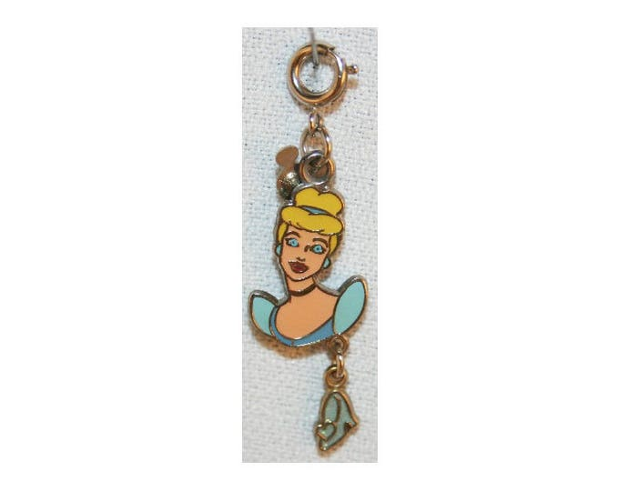 Disney Cinderella Charm Double Sided Bracelet Charms Necklace Earring Charm DIY Jewelry or Craft Supplies