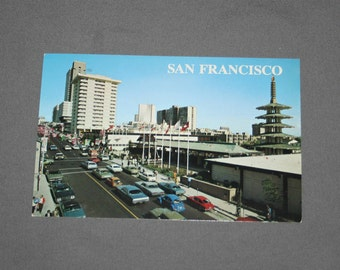 Vintage San Francisco CA Postcard Unused Photochrome Postcards Japanese Trade Center 1987 Post Card Souvenir