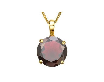 0.95 Carat Red Garnet 10Kt Solid Yellow Gold Necklace Pendant Jewelry (Necklace Chain not Included)