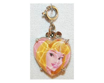 Disney Aurora Sleeping Beauty Charm Bracelet Charms Necklace Earring Charm DIY Jewelry or Craft Supplies