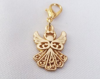 Guardian Angel Charm Gold Plated Bracelet Charms Necklace Pendant Jewelry Supplies Craft Projects Earrings Angels