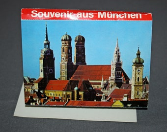 Vintage 1972 Munich Olympic Parc Picture Souvenir Book 20 Pictures Collectible Olympics Park Memorabilia Ephemera