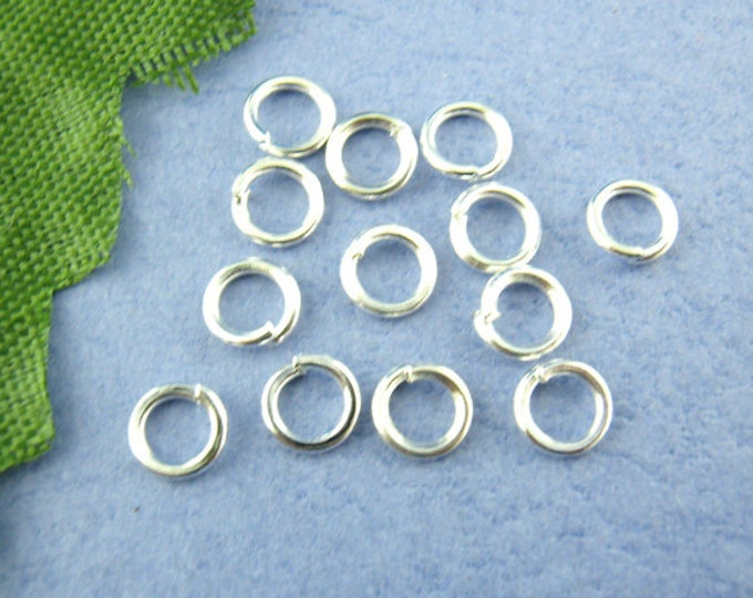 Bulk 200 6mm Jump Ring Silver Plated Open Jump Rings Great for Jewelry Making Supplies & Craft Projects Charms Bracelet Charm