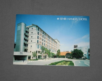 Vintage Senri Hankyu Hotel Postcard Unused Photochrome Postcards 1960's Post Card Souvenir Osaka Japan Travel Ephemera