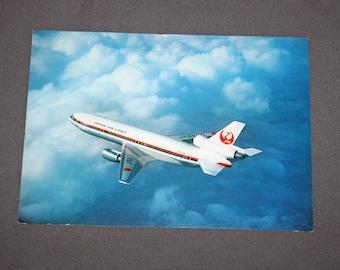 Vintage Original JAL DC-10 Japan Postcard DC 10 Airliner Japan Air Lines 1970's Postcards Japan Airlines Post Card Japanese Printed in Japan