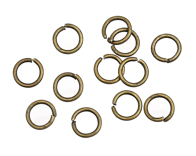 Bulk 500 5mm Jump Ring Antique Bronze Open Jump Rings Great for Jewelry Making Supplies & Craft Projects Charms Bracelet Charm