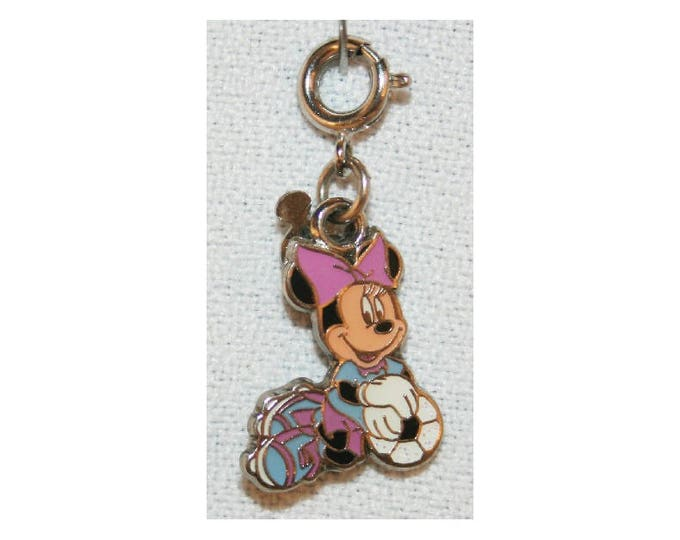 Disney Minnie Mouse Soccer Charm Double Sided Bracelet Charms Necklace Earring Charm DIY Jewelry or Craft Supplies