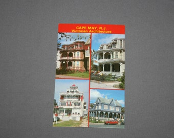 Vintage Cape May NJ Postcard Unused Photochrome Victorian Architecture Postcards Jack Freeman Inc. 1950's / 1960's Post Card