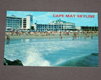 Vintage Cape May NJ Postcard Unused Photochrome Seashore Resort Postcards Jack Freeman Inc. 1950's / 1960's Post Card