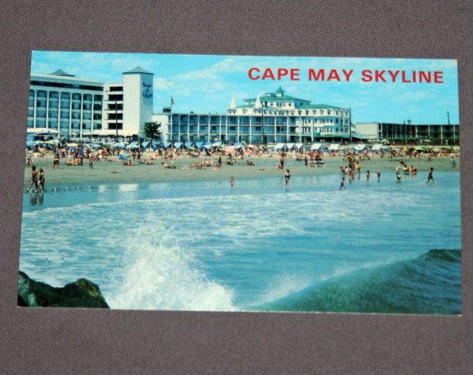 Vintage Cape May NJ Postcard Unused Photochrome Seashore Resort Postcards Jack Freeman Inc. 1950's / 1960's Post Card