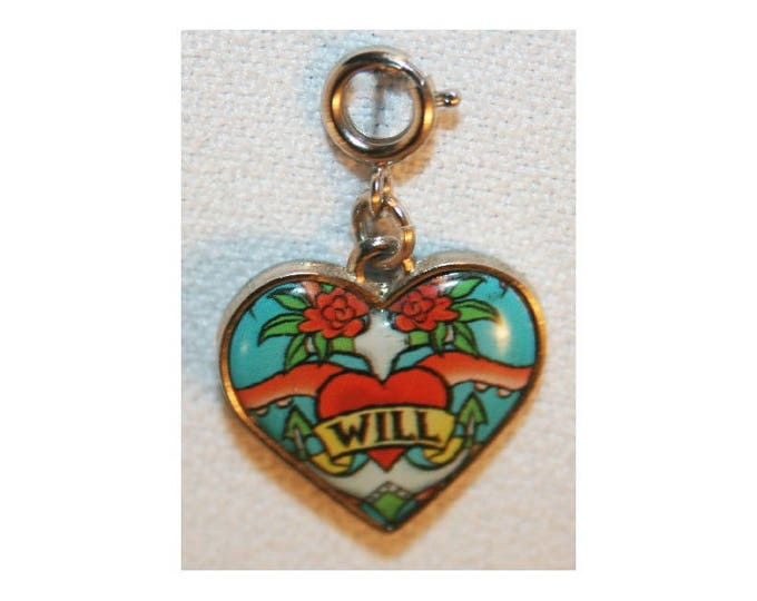 Disney Heart Will Turner Charm Pirates of the Caribbean Bracelet Charms Necklace Earring Charm DIY Jewelry or Craft Supplies