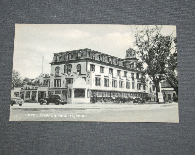 Vintage Original Hotel Morton Niantic Conn Postcard 1940's – 50's Postcards Published by John J Murphy Post Card