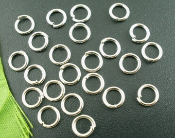 Bulk 1000 6mm Jump Ring Silver Tone Open Jump Rings Great for Jewelry Making Supplies & Craft Projects Charms Bracelet Charm