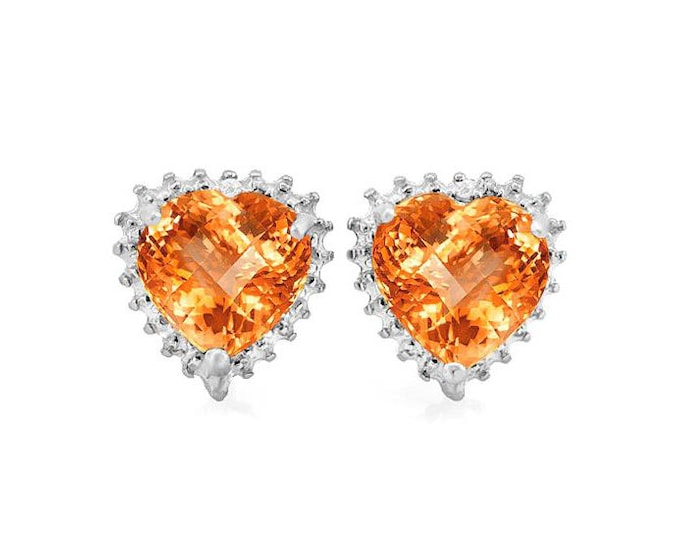 3 1/5 Ct Heart Cut Azotic Topaz Earrings 925 Sterling Silver Gemstone Stud Earrings – TG-ATG02-925