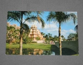 Vintage Walt Disney World Epcot Center Mexico World Showcase Postcard 1982 Walt Disney Productions Postcards Souvenir Post Card