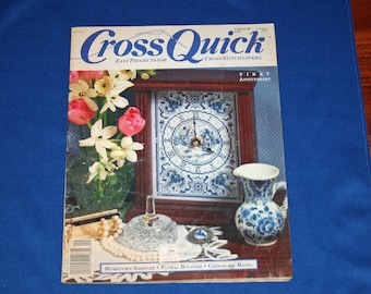 Vintage Cross Quick Aug Sept 1989 Cross Stitch Magazine Easy Craft Projects DIY Patterns Project Crafts Pattern