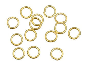 Bulk 1000 Jump Rings Gold Plated 5mm Open Jump Rings Great for Jewelry Making Supplies & Craft Projects Charms Bracelet Charm