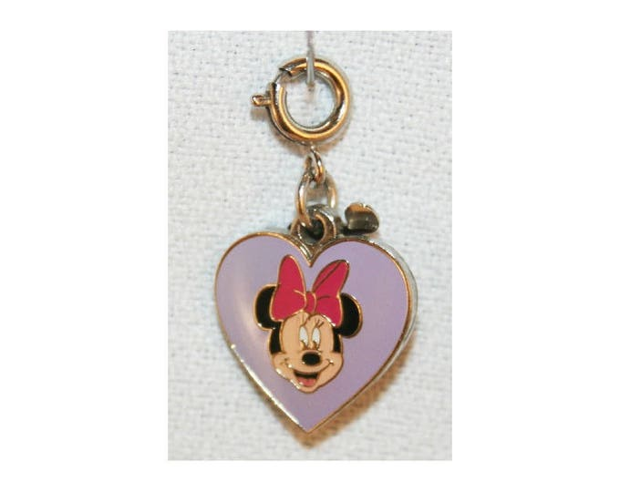Disney Minnie Mouse Charm Double Sided Bracelet Charms Necklace Earring Charm DIY Jewelry or Craft Supplies