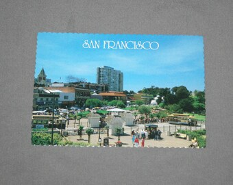 Vintage San Francisco CA Postcard Unused Photochrome Postcards Cable Car Turntable Hyde Street 1986 Post Card Souvenir
