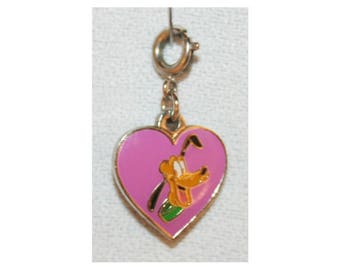 Disney Pluto Heart Charm Double Sided Bracelet Charms Necklace Earring Charm DIY Jewelry or Craft Supplies