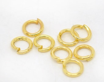 Bulk 1000 4mm Jump Rings Gold Plated Open Jump Rings Great for Jewelry Making Supplies & Craft Projects Charms Bracelet Charm