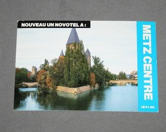 Vintage Metz Centre Postcard Unused Photochrome Postcards 1960's Post Card Souvenir Nouveau Un Novotel A Centre Saint Jacques France