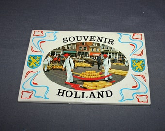 Vintage 1950's Holland Postcard Book 8 postcards Souvenir Color Foldout Amsterdam Memorabilia Dutch Ephemera International Post Card