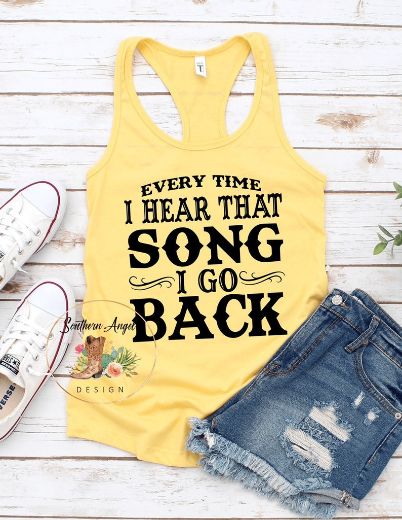 Country concert tank Country music festival Country music shirt Country Thunder Every Time I Hear That Song tank Rodeo tank