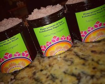 Pomegranate & Sage Exfoliating Sugar Scrub with Jojoba Beads