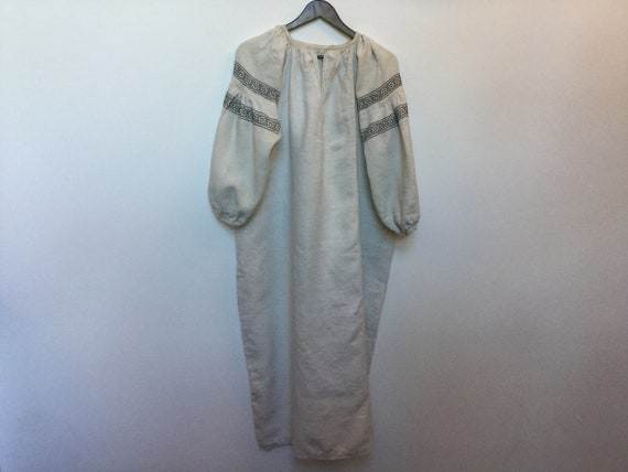 Vintage Ukrainian Vyshyvanka Embroidered Dress Ho… - image 7