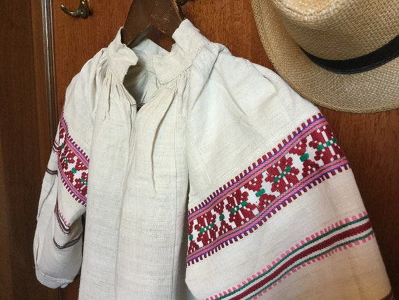 Antique Embroidered Dress Ukrainian Vyshyvanka Hom