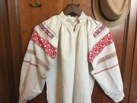 Antique 30s Embroidered Folk Dress Ukrainian Vyshy