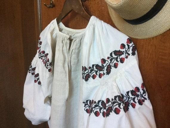 Vintage Ukrainian Vyshyvanka Embroidered Dress Cot