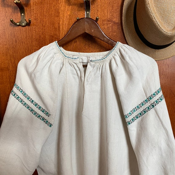 Antique 20s - 30s Embroidered Dress Size M Homespu