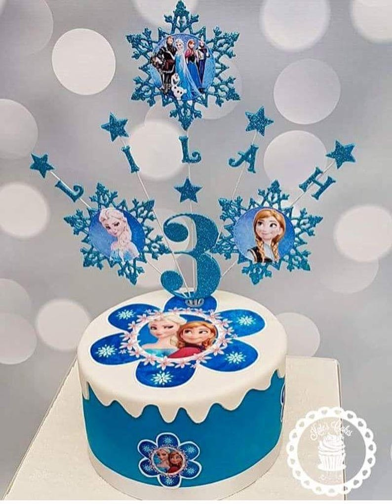 Personalised Frozen Cake Topper Party Decor