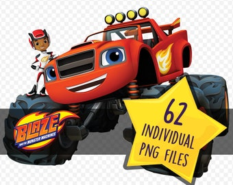 Blaze And The Monster Machines / Image Clipart / Instant Digital Download / PNG Files