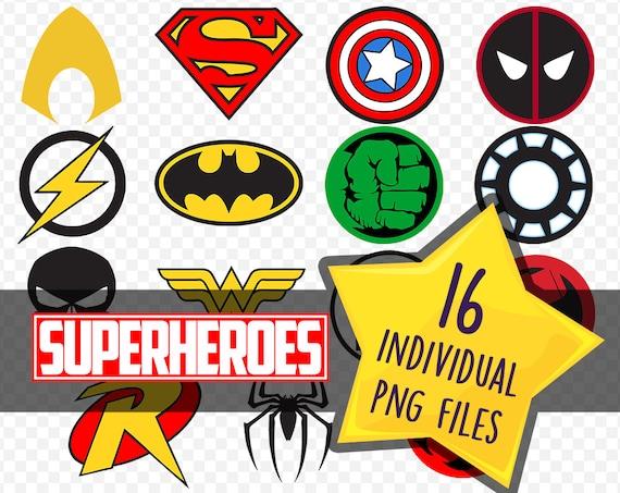 superhero logos marvel dc comics thundercats batman etsy