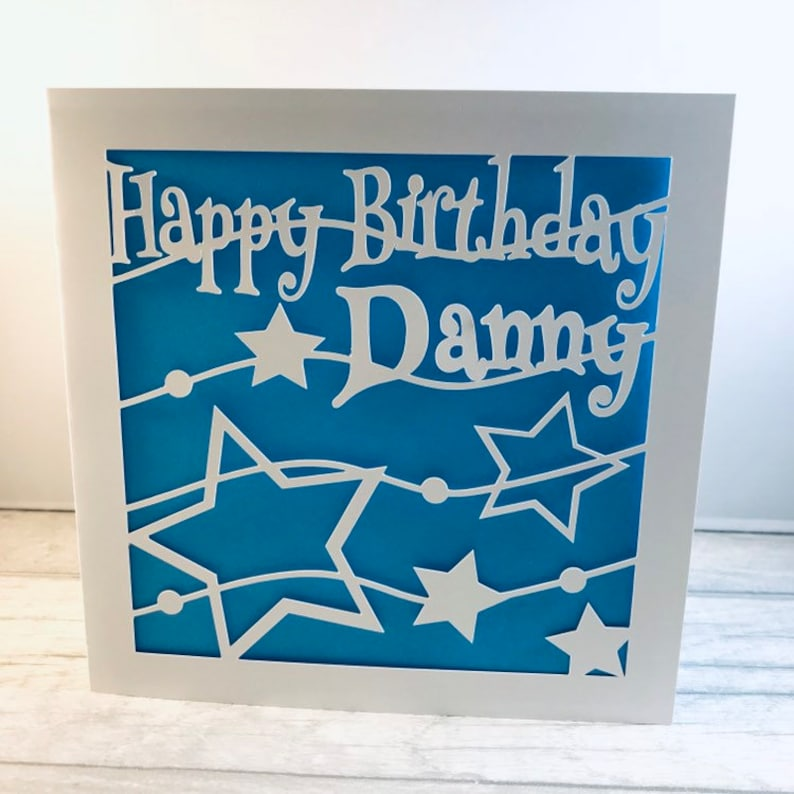 Personalised Birthday Card Name Star Son