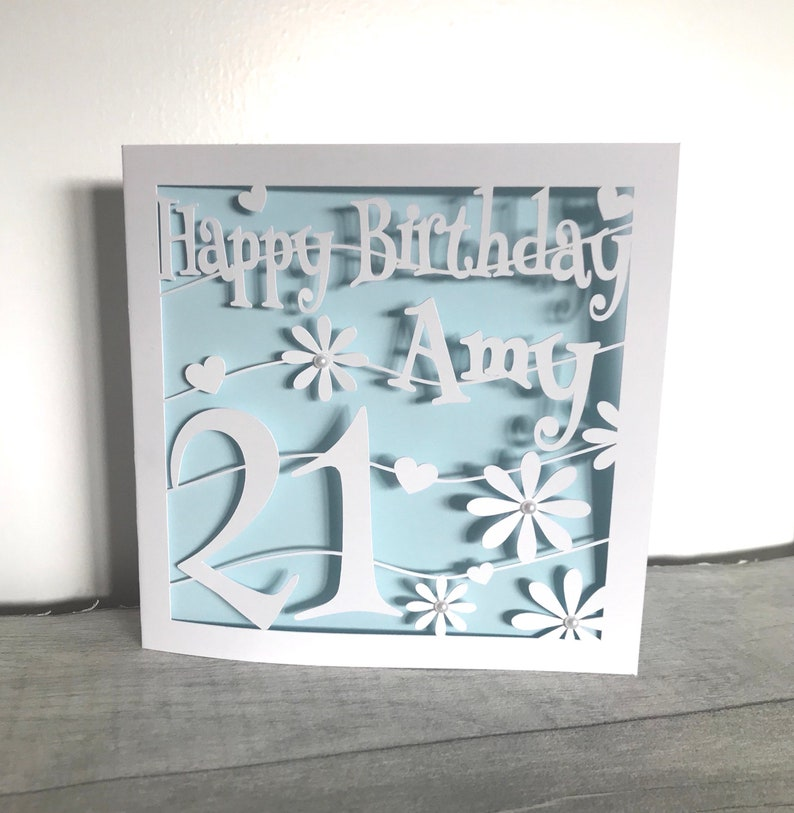 Personalised 21st Birthday Card Cutout