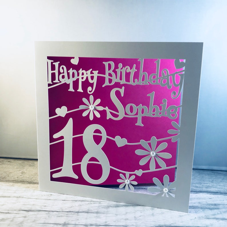 Personalised 18th Birthday Card Cutout