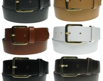 "40mm New Genuine 1.5"" Full Grain Mens 100% Real Leather Belt Made in the England"