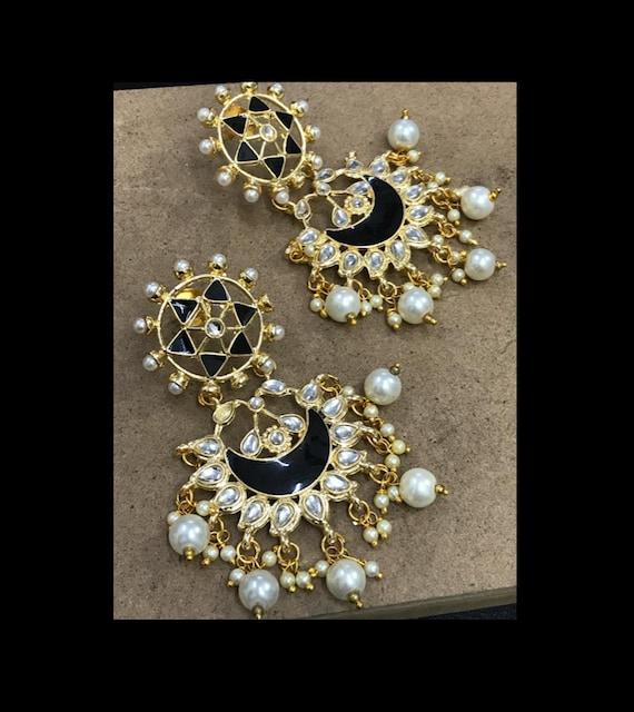Chaandbali Earrings Indian Jewelry Indian Fashion Indian Etsy