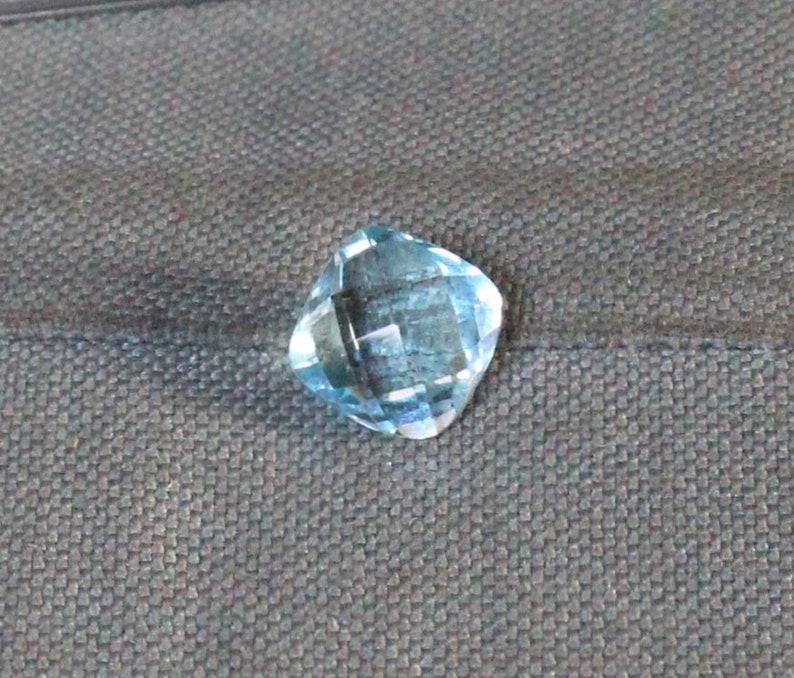 10x10 MM Blue Topaz Cut Stone Blue Topaz Square cushion Cut Stone Blue Topaz Gemstones Natural Blue Topaz Swiss Blue Topaz