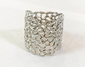 diamond LACY LONG large band ring/ 50% DISCOUNT