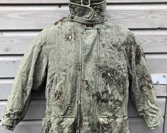 """Heavily Distressed Postapo Tweed Hunting Jacket - 42"""""""