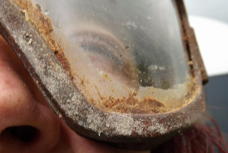 Postapocalyptic Distressed Goggles