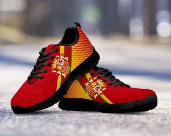 b517075e8e1 Soccer Team Spain Running Shoes   Sneakers   Trainers   Custom - Kids